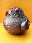 Teekanne im chinesischen Yixing-Stil, Drachen/Phoenix, Ton-Keramik aus Taiwan