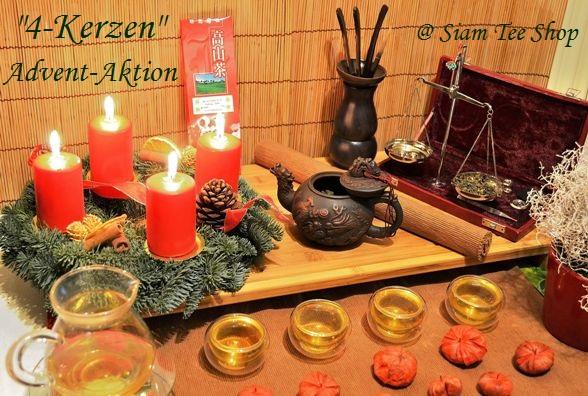 """""""4-Kerzen"""" Adventsaktion im Siam Tee Shop"""
