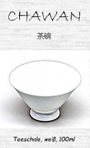 Japanische Teetasse, weiß, 100ml, ´Keramikmikkermae