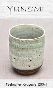 Tee-Becher (Yunomi), Krakelee, 200ml