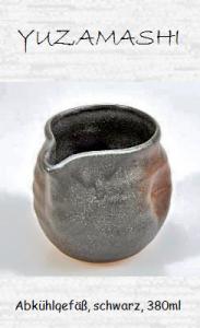 Japanisches Teewasser-Abkühlgefäß, schwarz, 380ml