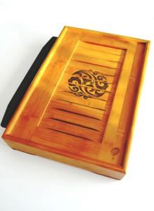 Teetisch / Teeboot aus Bambus für die Teezubereitung oder Teezeremonie