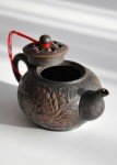 Teekanne, Ton, im chinesischen Yixing-Stil, Tee-Keramik aus Taiwan
