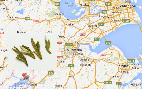 Herkunft von Long Jing Grüner Tee : Hangzhou, Provinz Zhejiang, China