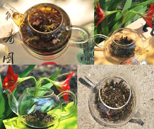 Ästhetik von Tropical Sunset Thailändische Teemischung