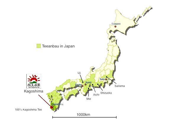 Teeanbaugebiete in Japan: Kagoshima