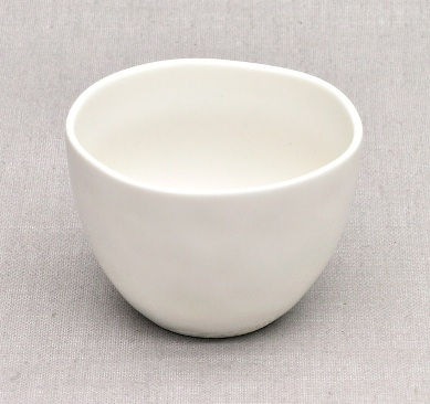 Japanische Chawan Teeschale, Porzellan, weiß, 120ml