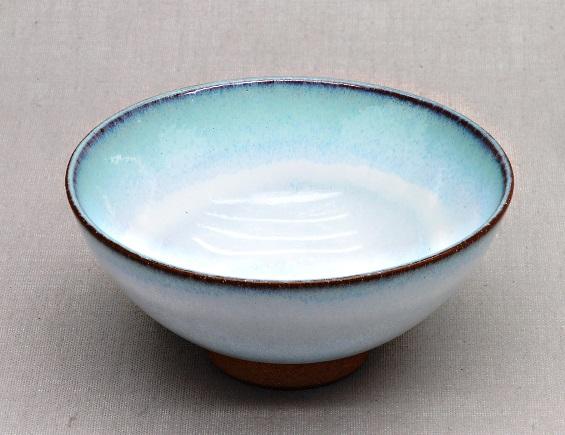 Japanische Teeschale, weiß & türkis, 210ml; 11,5 x 5,5 cm