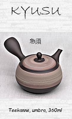 Japanische Kyusu-Teekanne, umbra, 360ml
