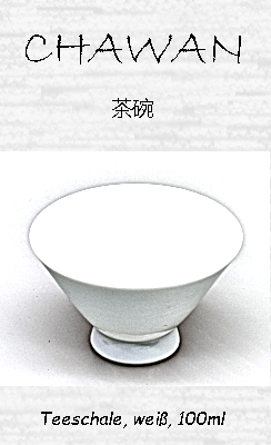Japanische Teeschale (Chawan), weiß, 100ml