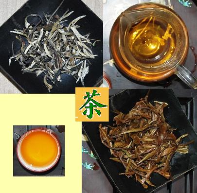 Weißer Moonlight Tee: trocken, nass und zubereitet