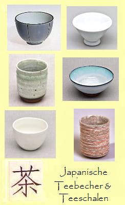 Japanische Teebecher, Teeschalen, Teetassen