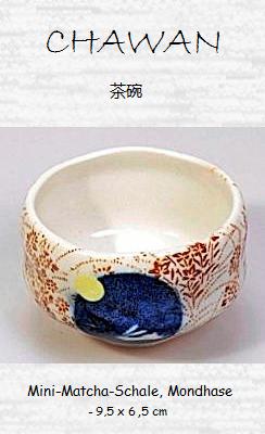 "Matcha-Schale (Chawan) ""Mondhase"" 9,5 x 6,5 cm"