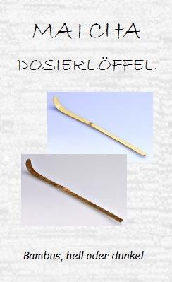 Matcha-Dosierlöffel (Chashaku), Bambus, hell/dunkel