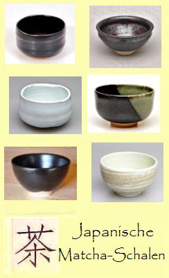 Japanische Matcha-Teeschalen