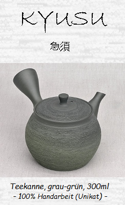 Japanische Kyusu Teekanne, grau-grün, 300ml