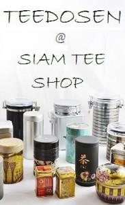 Teedosen im Siam Tee Shop