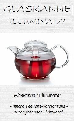 Leucht-Teekanne 'Illuminata' mit Edelstahlstövchen