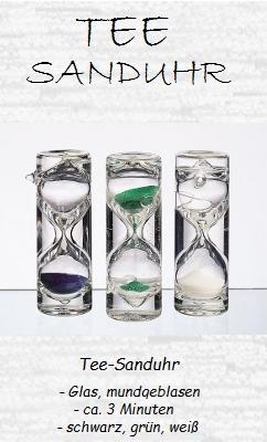 Tee-Sanduhr 'Tea Time', mundgeblasen, Set 3-tlg.