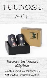 77044 Teedosen-Set 'Anakusa' 100g / Dose