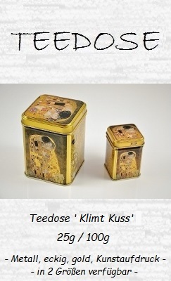 Teedose 'Klimt Kuss', 25g / 100g