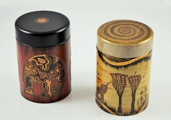 Teedosen-Set 'African Life' - Metall, rund, Schraubverschluss