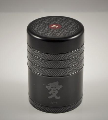 Teedosen-Set 'Kyoto' - Metall, rund, Schraubverschluß