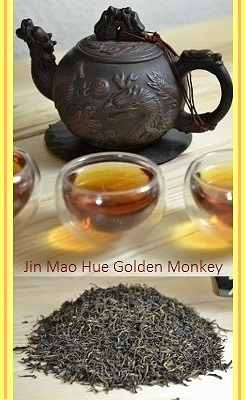Jin Mao Hue Golden Monkey Schwarzer Tee aus Fu'an County, Fujian, China
