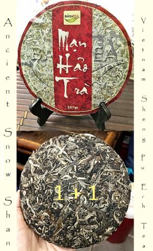 Ancient Snow Shan Sheng Pu Erh Tee 1+1