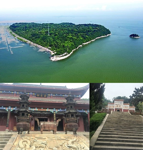 Insel Junshan + Tempel