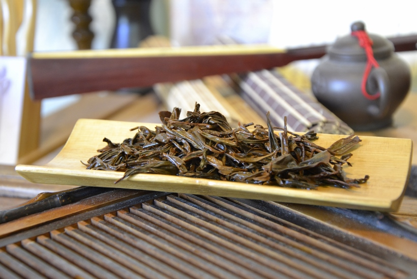 nasse Teeblätter nach dem Aufguss