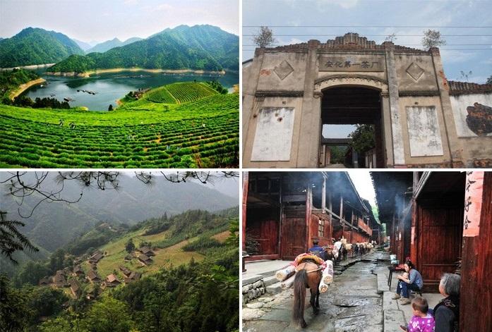 Anhua County in der südchin. Provinz Hunan