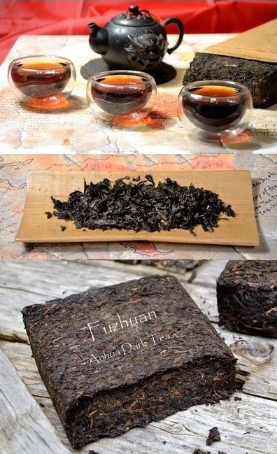 "Fuzhuan Dunkler Tee / Fuzhuan Cha - ""Hei Cha"" (dunkler Tee) aus Anhua County, Provinz Hunan, Südchina"