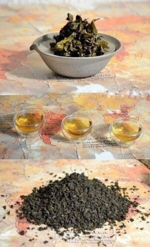 Bai Ya Qilan Oolong Tee - leicht oxidierter, mehrfach gerösteter Oolong-Tee vom Daqinshan, der höchsten Erhebung von Süd-Fujians Pinghe-Bezirk