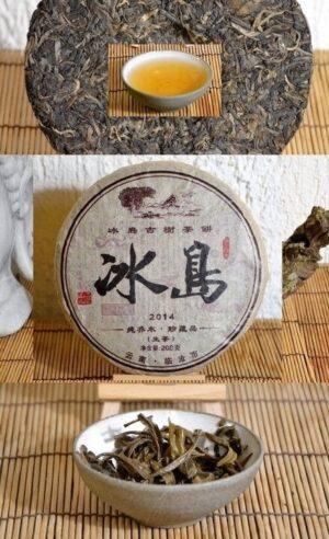 Bing Dao Sheng Pu Erh Tee - ungereifter Pu Erh Tee aus dem Dorf Bing Dao im alten Teeberg Xibanshan der Stadt Mengku, Bezirk Shuangjiang, Präfektur Lincang, Provinz Yunnan, Südchina